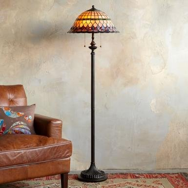 TIFFANY STYLE PARASOL FLOOR LAMP