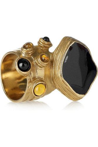 Yves Saint Laurent|Arty enamel gold-plated ring|NET-A-PORTER.COM