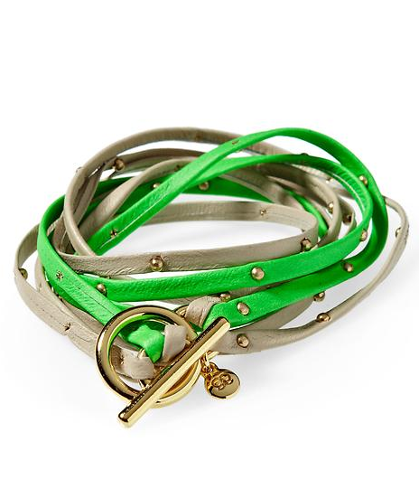 Stack your wrists with these smart two-tone leather wrap bracelets; the more, the merrier.  Gorjana Two-Tone Leather Triple Strand Wrap Bracelet ($88)