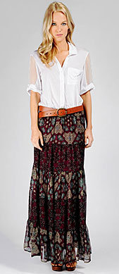 Ella Moss Official Store, ELLA-3010 Songbird Maxi Skirt, ellamoss.com