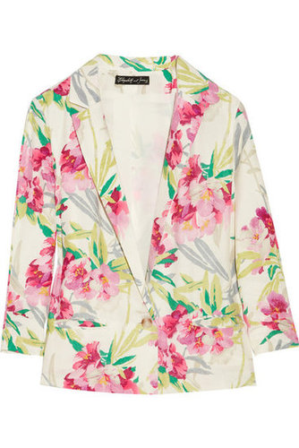 Elizabeth and James | Bruce floral-print silk jacket | NET-A-PORTER.COM