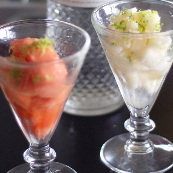 Sorbet With Vodka and Lime Zest