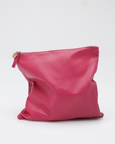 Foldover Clutch Dark Rose