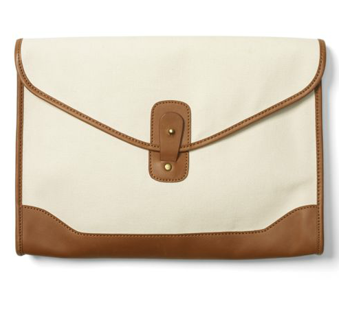 We love how this lightweight clutch can double as an iPad clutch.  Club Monaco Franny Canvas Clutch ($130)