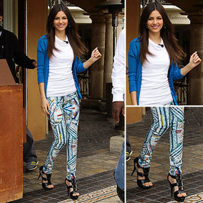 Victoria Justice Print Jeans