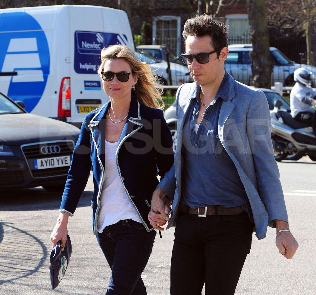 Kate Moss and Jamie Hince get some fresh air near their home in London.