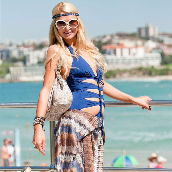 Paris Hilton Swimsuit Pictures in Australia