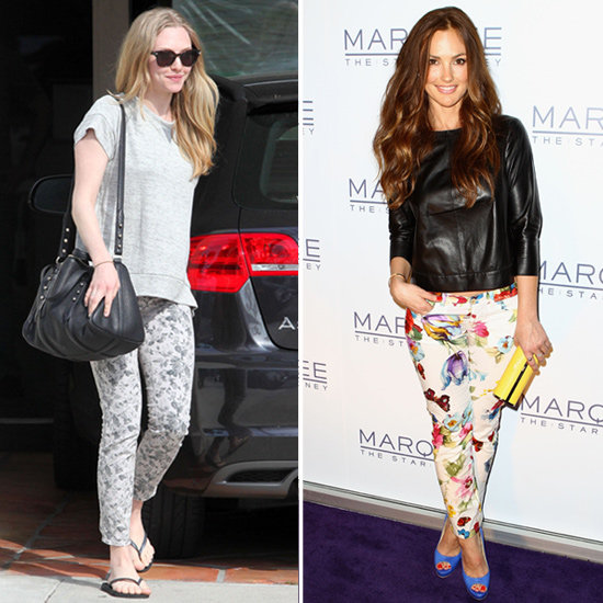 Celebs in Floral Jeans