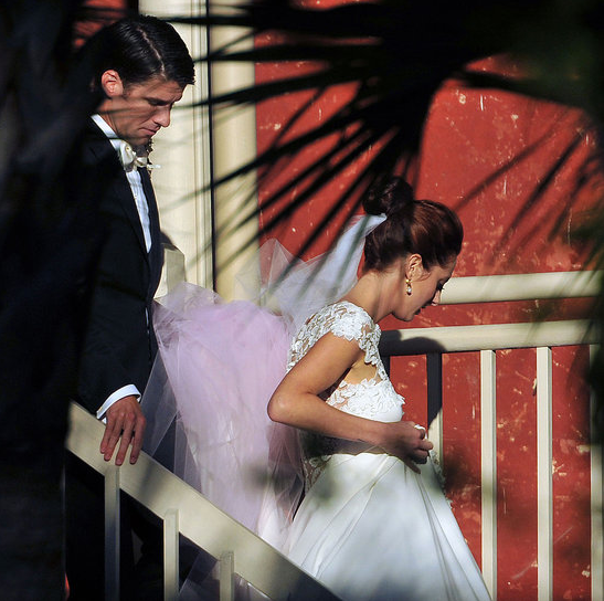 Susan Sarandon's daughter, Eva Amurri, wed Kyle Martino in Charleston, SC, during October 2011.