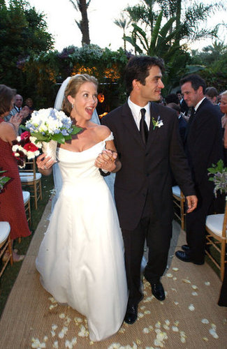 Christina Applegate and Johnathon Schaech were married in Palm Springs, CA, during October 2001.