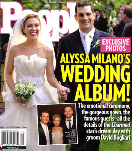 Alyssa Milano and David Bugliari tied the knot in New Jersey during August 2009.