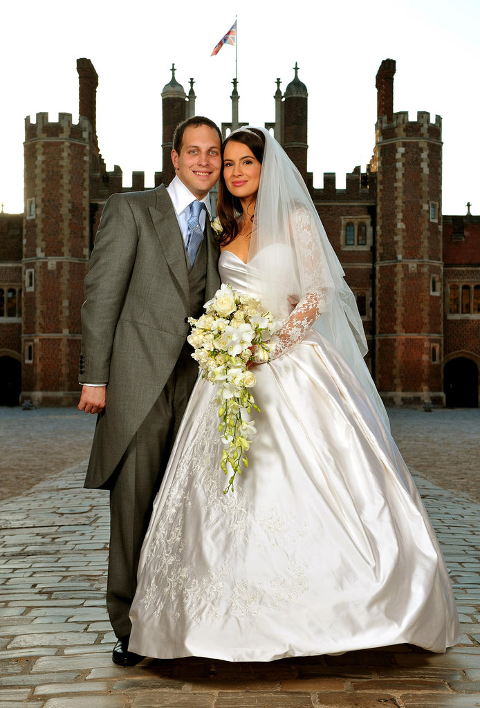 Lord Freddie Windsor posed with former Two and a Half Men star and bride Sophie Winkleman at Richmond, England, in September 2009.
