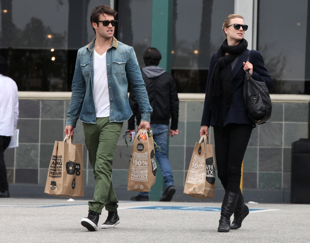 Emily VanCamp and Joshua Bowman picked up groceries together.