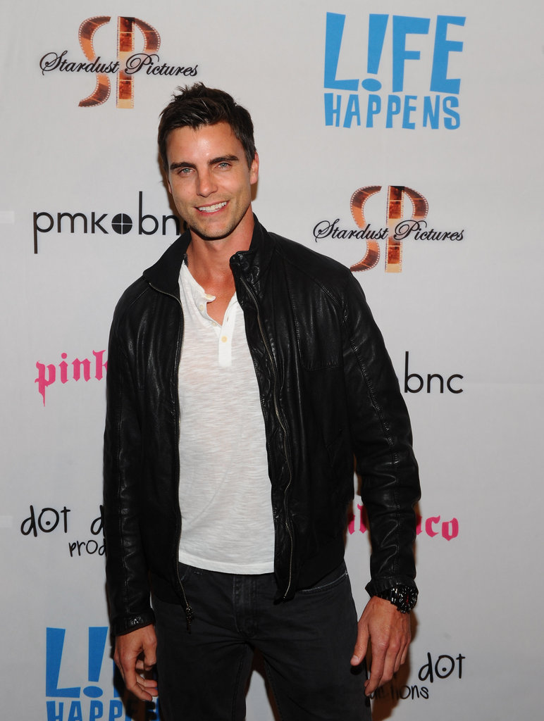 Colin Egglesfield smiled at the premiere of Life Happens in Century City.