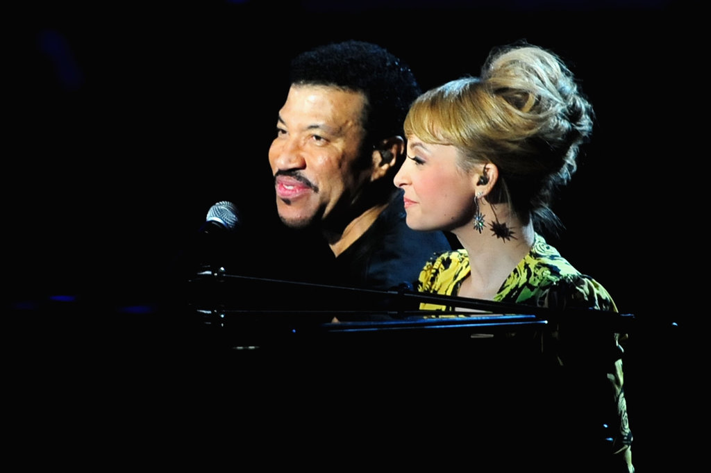 Nicole Richie Shows Her Singing Skills and Support at Lionel's Special Concert