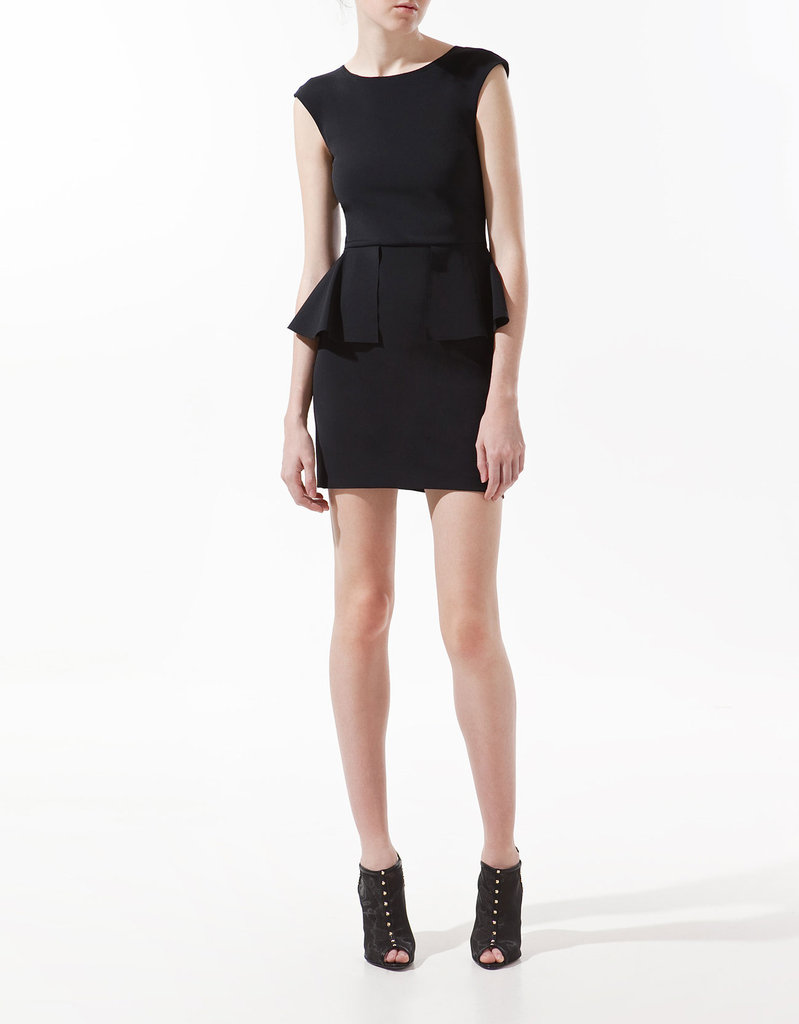 The peplum update on this LBD gives it just a hint of that playful sexiness.  Zara Dress With Frill at the Waist ($100)