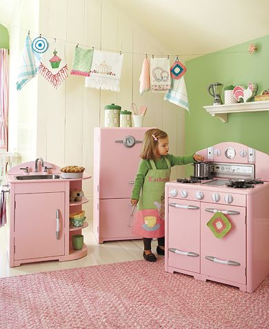 Pottery Barn Kids Pink Retro Kitchen Collection ($249–$699)