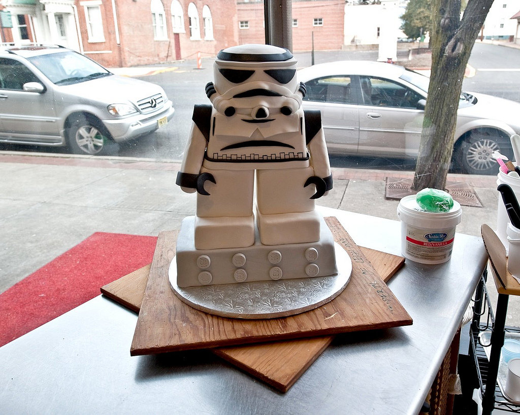 This Stormtrooper Lego cake is perfection on a plate!  Source: Flickr User flickr4jazz