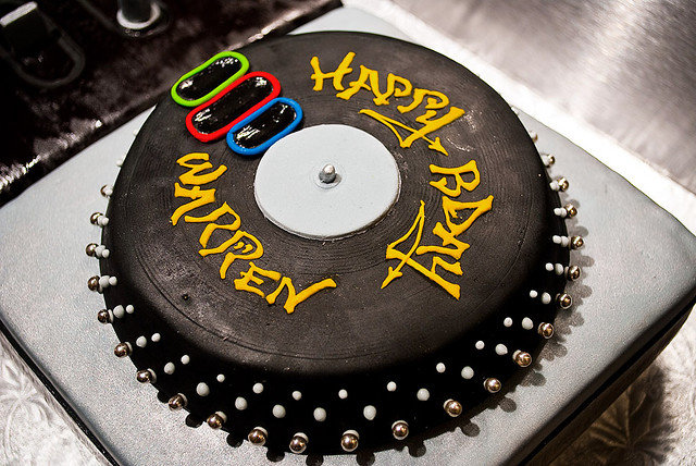 Music (and music-themed cakes) are an important part of every wedding.  Source: Flickr User April Julian