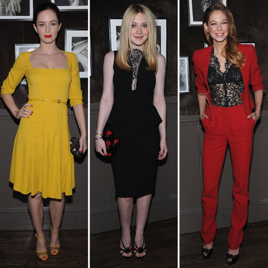 Dakota Fanning and Emily Blunt Pictures at Elie Saab Dinner