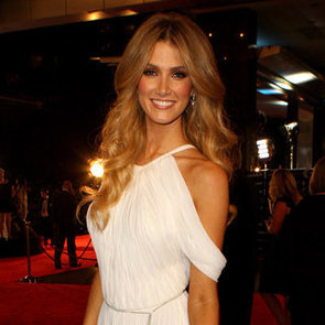 Delta Goodrem Pictures in White Ralph Lauren Dress at 2012 Logies