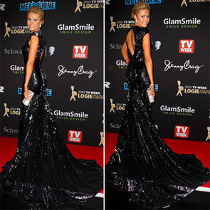 Pictures of Magdalena Roze on the 2012 Logies Red Carpet in Black Sequinned Alchemy Gown: Like It?