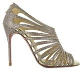 Christian Louboutin 100mm Multibrida Glitter Bootie Sandals