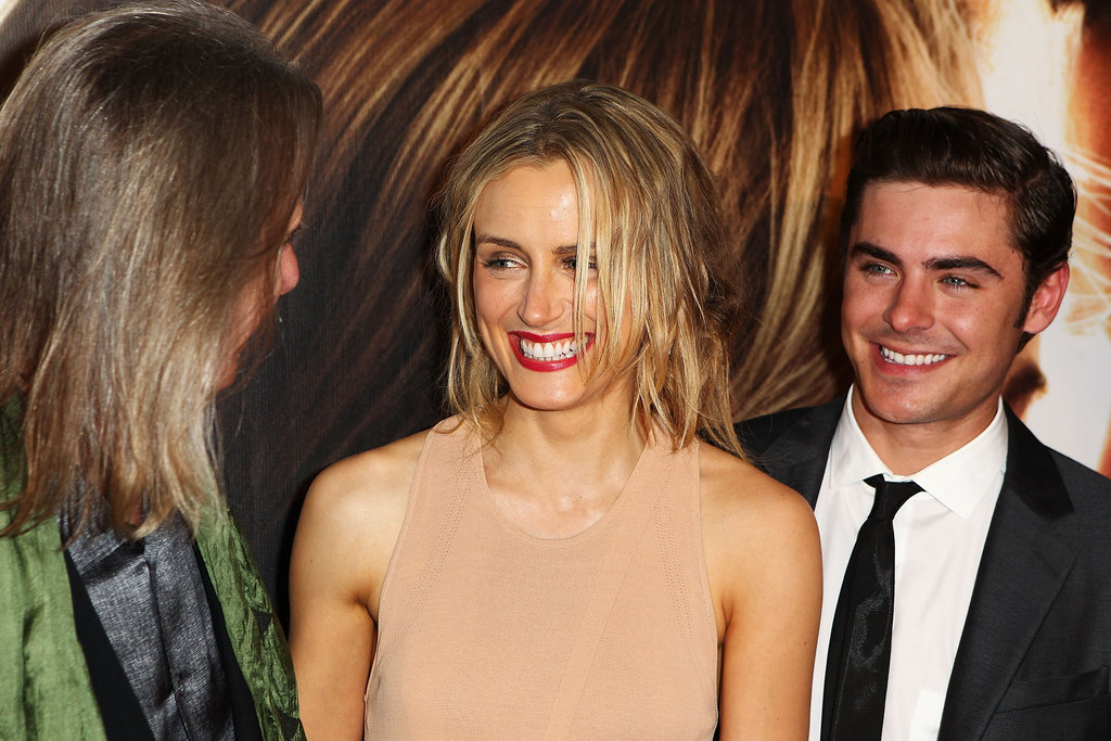 Taylor Schilling and Zac Efron chatted with director Scott Hicks at The Lucky One premiere in Melbourne.