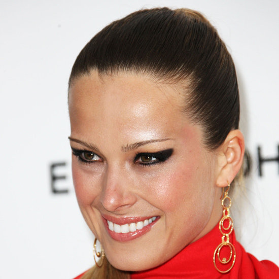If you're looking to make an impact, make your wing thick like Petra Nemcova. This look screams look-at-me and works best with a powder product worn over liner to set and hold the pigment in. It looks great in carbon black but don't be afraid to throw some colour into the mix either.