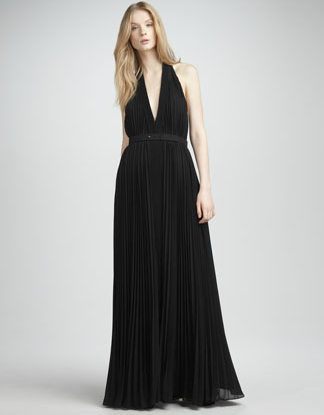 Halston Heritage pleated halter gown ($595)