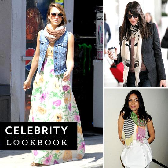 Celebrities Wearing Printed Scarves