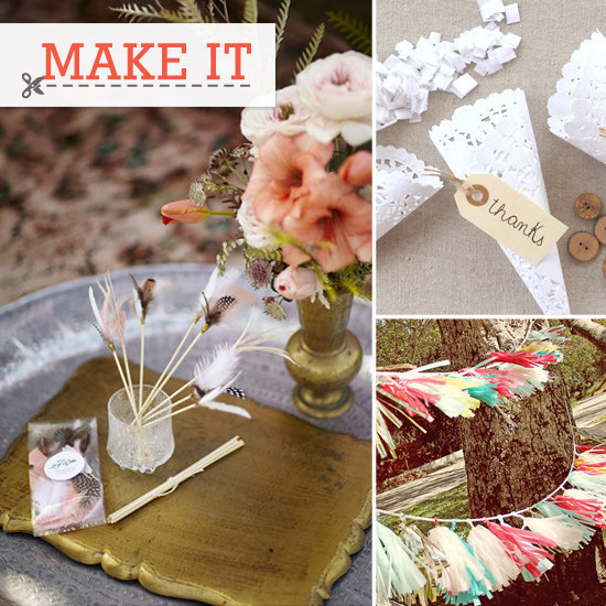 Casa showed some easy-to-follow tutorials for stylish DIY wedding decorations.