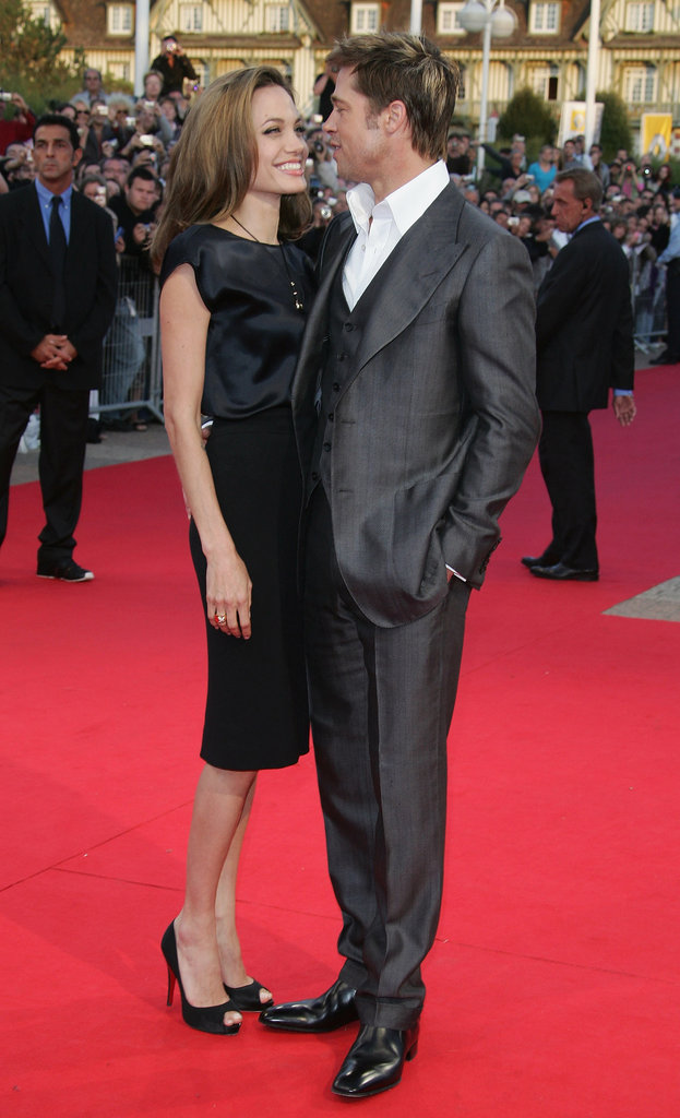 Brad Pitt and Angelina Jolie stuck close at the 33rd Deauville American Film Festival premiere of The Assassination of Jesse James in September 2007.