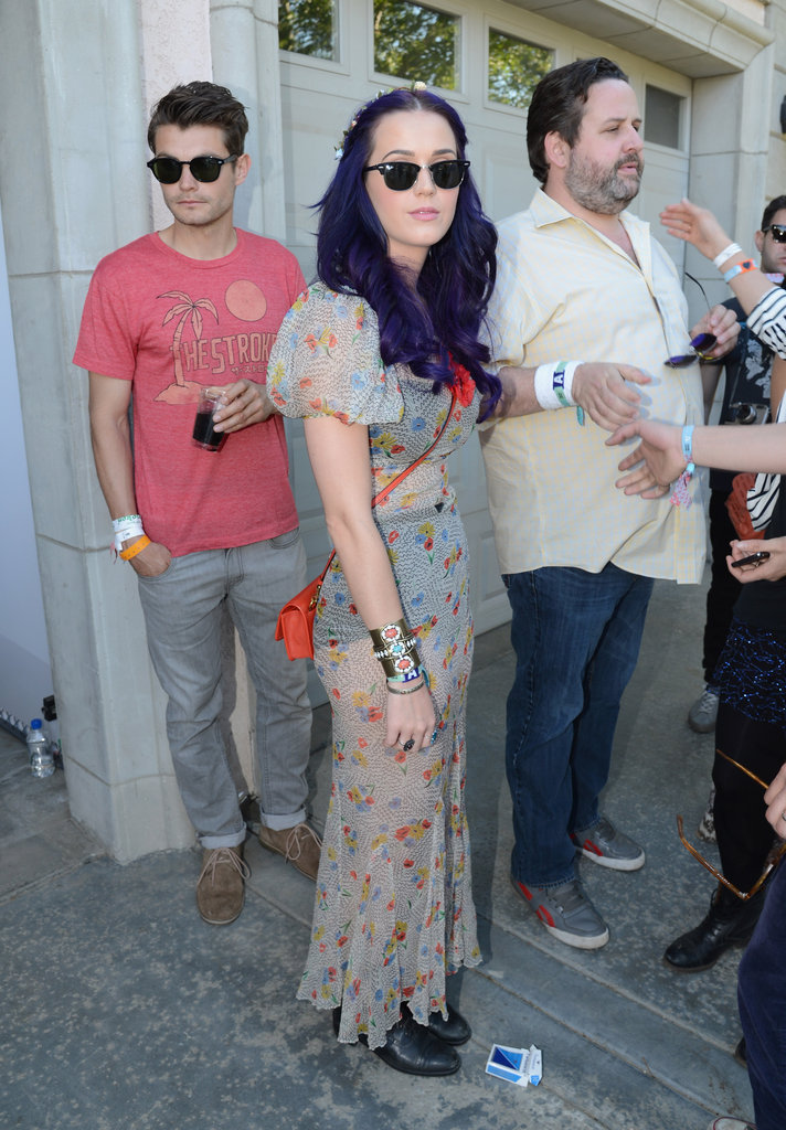 Katy Perry opted for a breezy, sheer maxi at Lacoste! Live.