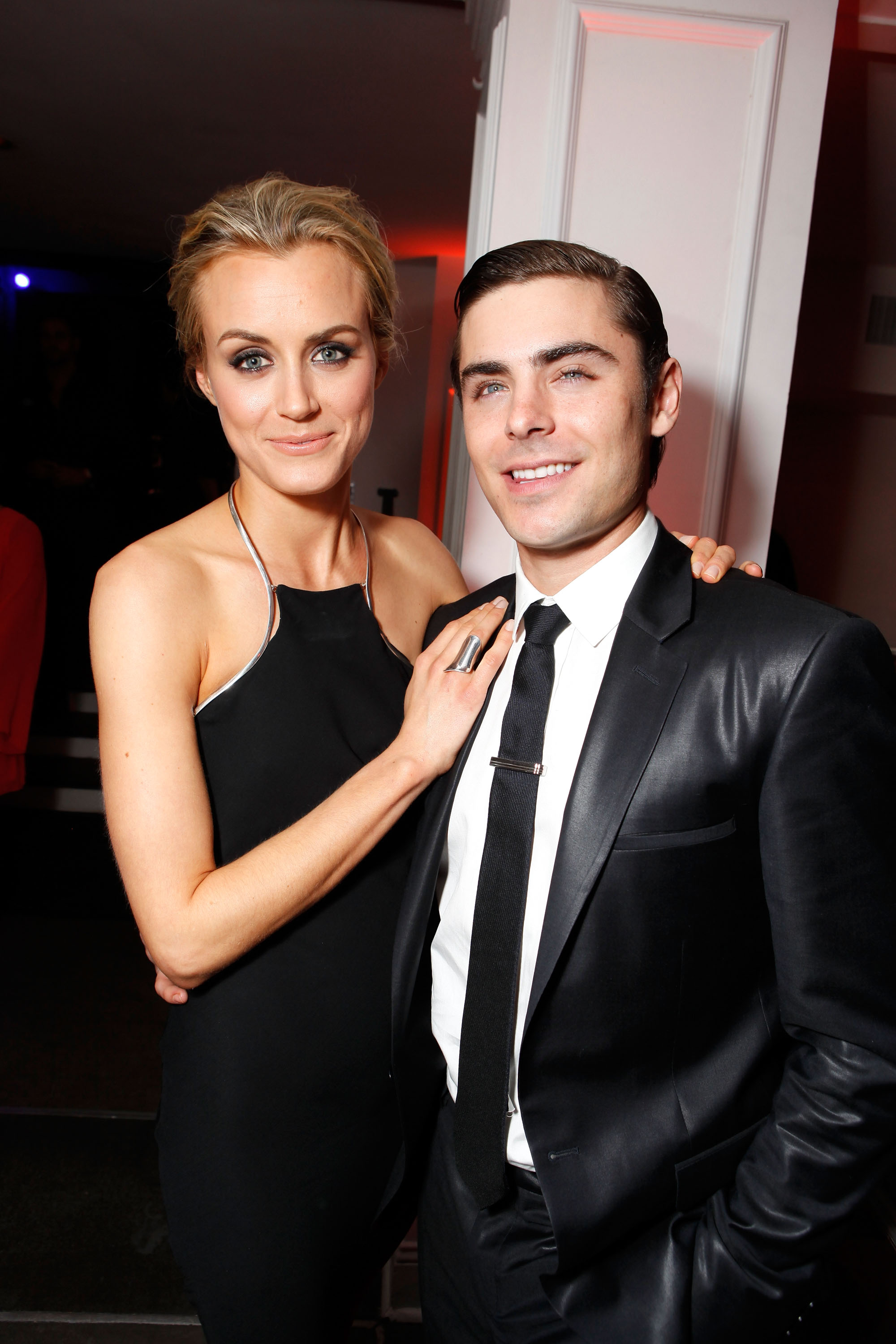 Photo of Taylor Schilling & her friend, actor  Zac Efron