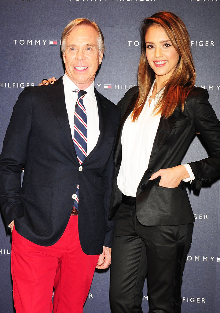 Jessica Alba posed with Tommy Hilfiger.