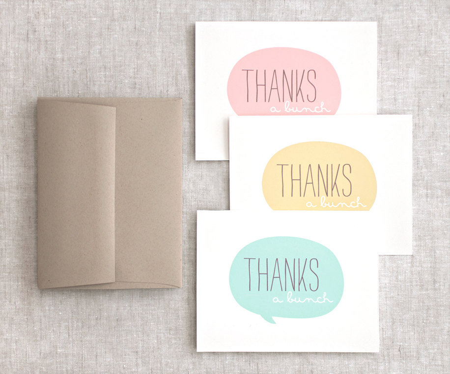 Recycled Thank-You Notes