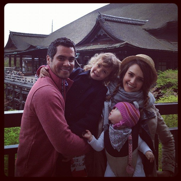 Jessica Alba shared a sweet family photo from Kyoto, Japan. Source: Instagram User therealjessicaalba