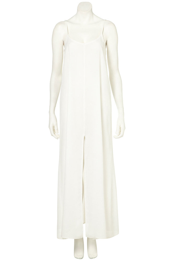 Loose and lightweight, this maxi dress shows off a little leg with its sexy front slit and would look great with easy sandals and big bangle bracelets. Topshop Strappy Split Maxi Dress ($70)