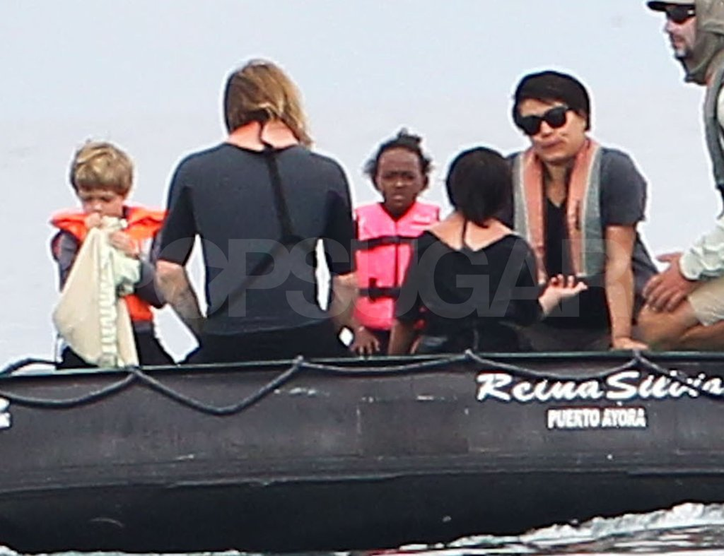 The Jolie-Pitt crew took a ride together.