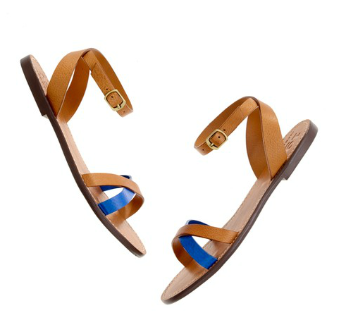 A pop of neon blue and ankle-straps? We will be wearing these with everything from cutoff denim shorts to our most delicate floral maxi skirts. Madewell Crisscross Boardwalk Sandal ($60)