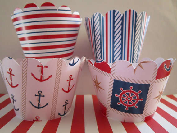 DK Delektables' Nautical Cupcake Wrappers ($8 For 12)