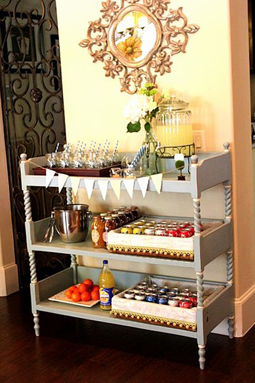 Upcycle Your Changing Table Into a Bar Cart