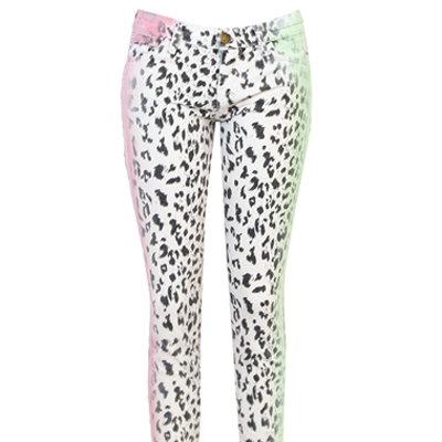 Cheryl Cole's Current/Elliott Stiletto Neon Leopard Print Jeans