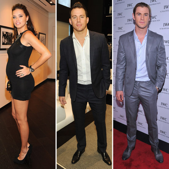 Adriana Lima Bares Her Bump at a Bash With Chris and Birthday Boy Channing