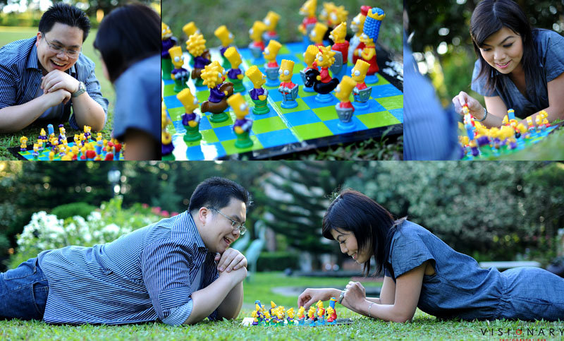 No need to choose just one hobby to include in the photo shoot; add them all, as seen in another Jervy Santiago photo shoot, which includes a love for both chess and The Simpsons. Photo: Jervy Santiago