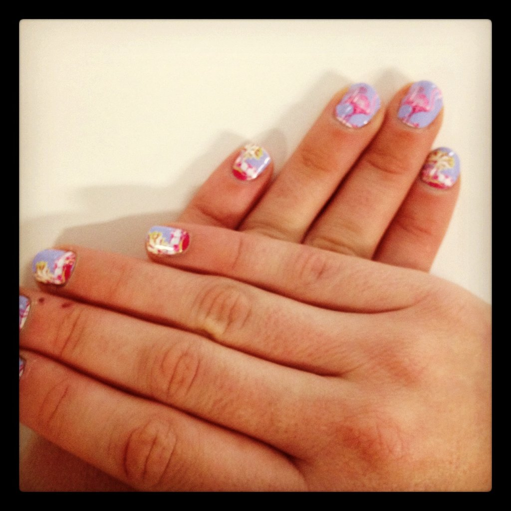 Sarah tested out the new Nail Rock in Waikiki Flamingo design (available from ASOS).