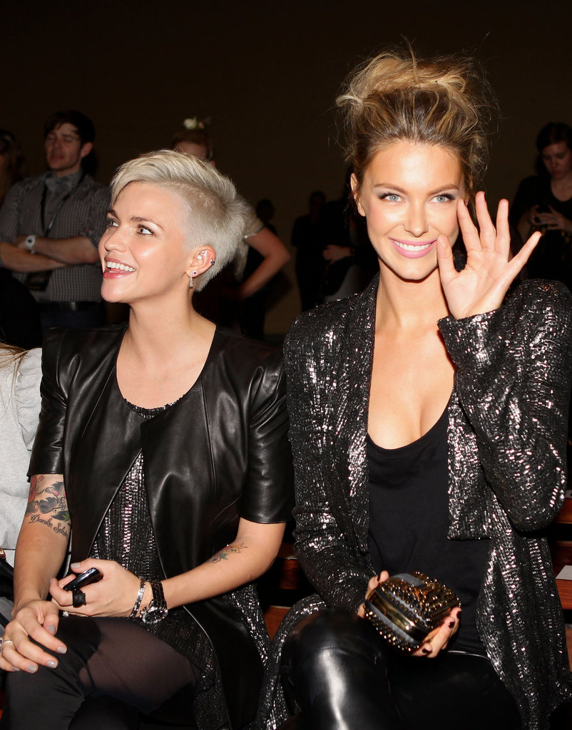 Ruby Rose and Jennifer Hawkins were front row mates at Ellery in 2010.