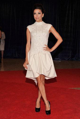 Eva Longoria posed on the red carpet.
