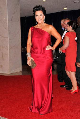 Kris Jenner posed on the red carpet.